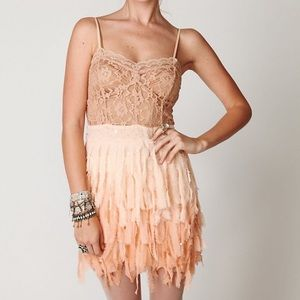 Free People Feather Slip Dress